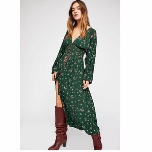 Free People Wildflowers Embroidered Maxi Dress XS